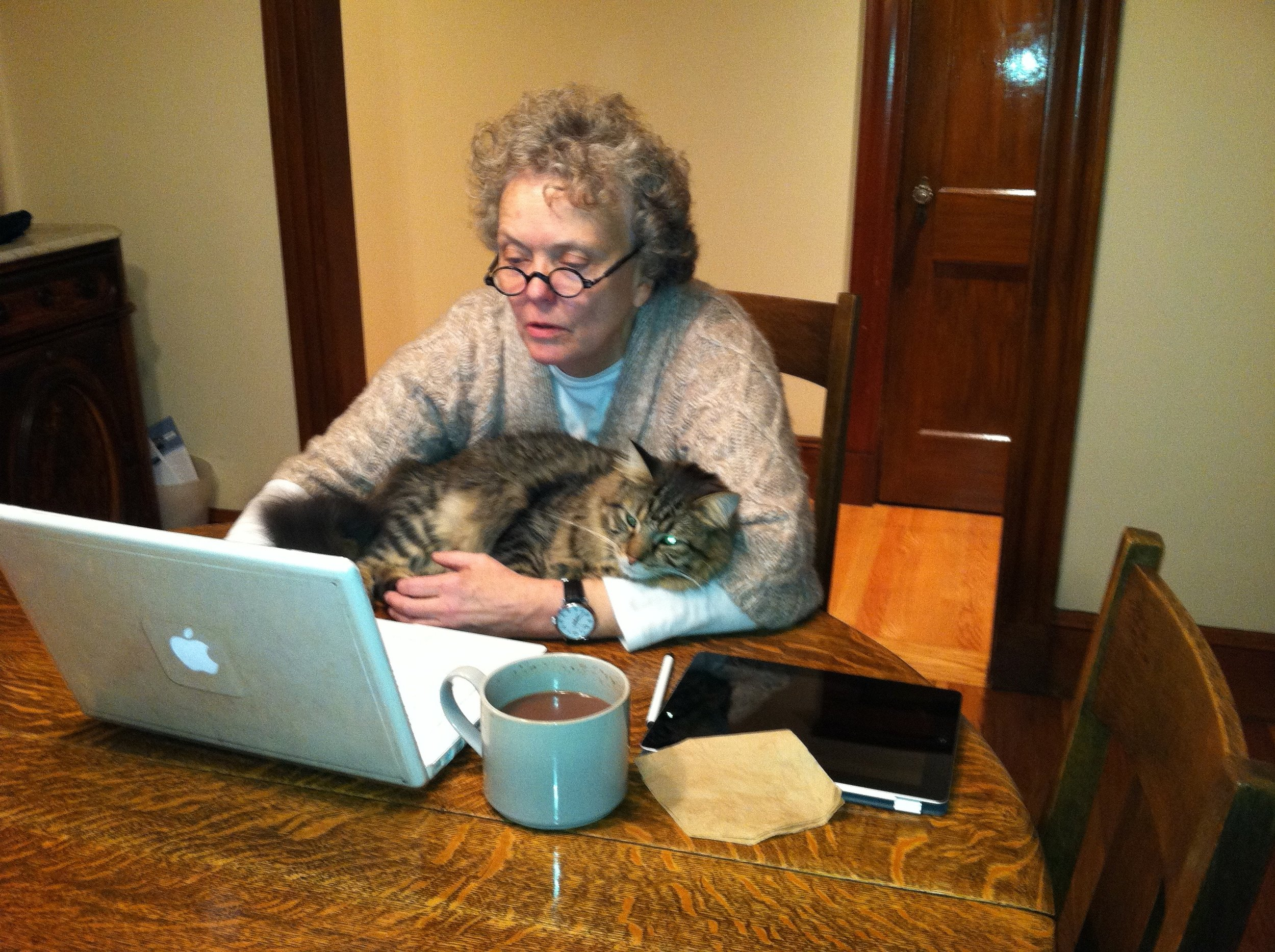 Hard at work on my next book.