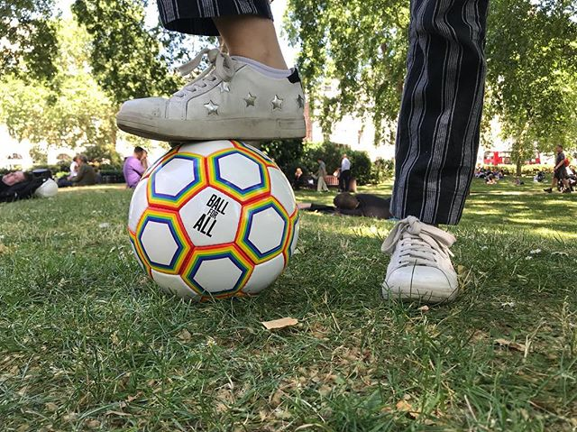 With less than 3 weeks to go until the start of the Premier League. Let's show the world that football is a game of acceptance, openness and inclusivity by supporting the fight against homophobia in football and buying the Ball for All. 🏳️‍🌈⚽️ Link in bio☝️ #ballforall #pride #lgbtq #premierleague