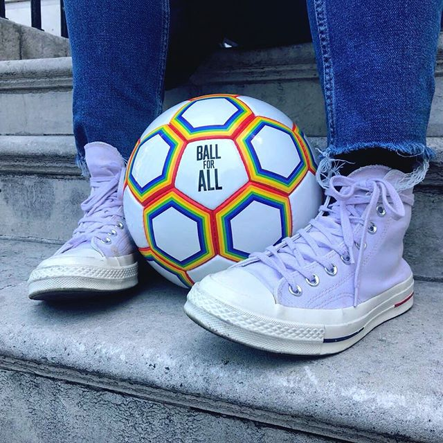 The Premier League kicks off on Friday! Show you're proud to support the fight against homophobia in football by buying the Ball for All ⚽️ 🌈 #ballforall #pride #lgbtq #football