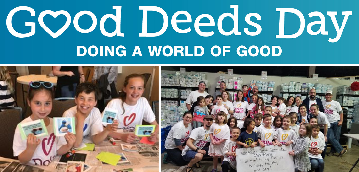 The Raleigh-Cary Jewish community takes part in 2017 Good Deeds Day!