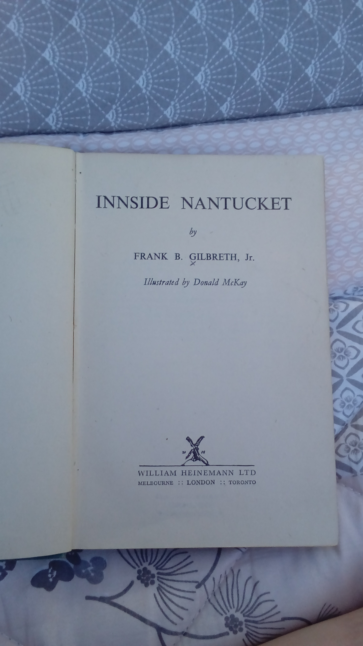 Innside Nantucket - found this book from the fifties at the library