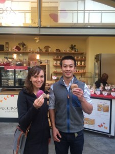 Hire an Esquire CEO Julia Shapiro and Sales & Recruiting Manager Wallace Young opt for Mariposa Baking Company's Gluten-free Donuts in SF