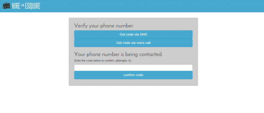 Screen shot of the new Phone Verification Process