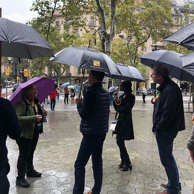 The rain in Spain..... working in Barcelona last week. The weather didn't stop my small group enjoy their Tapas Hop. #incentivetravel #barcelona #smallbutperfectlyformed