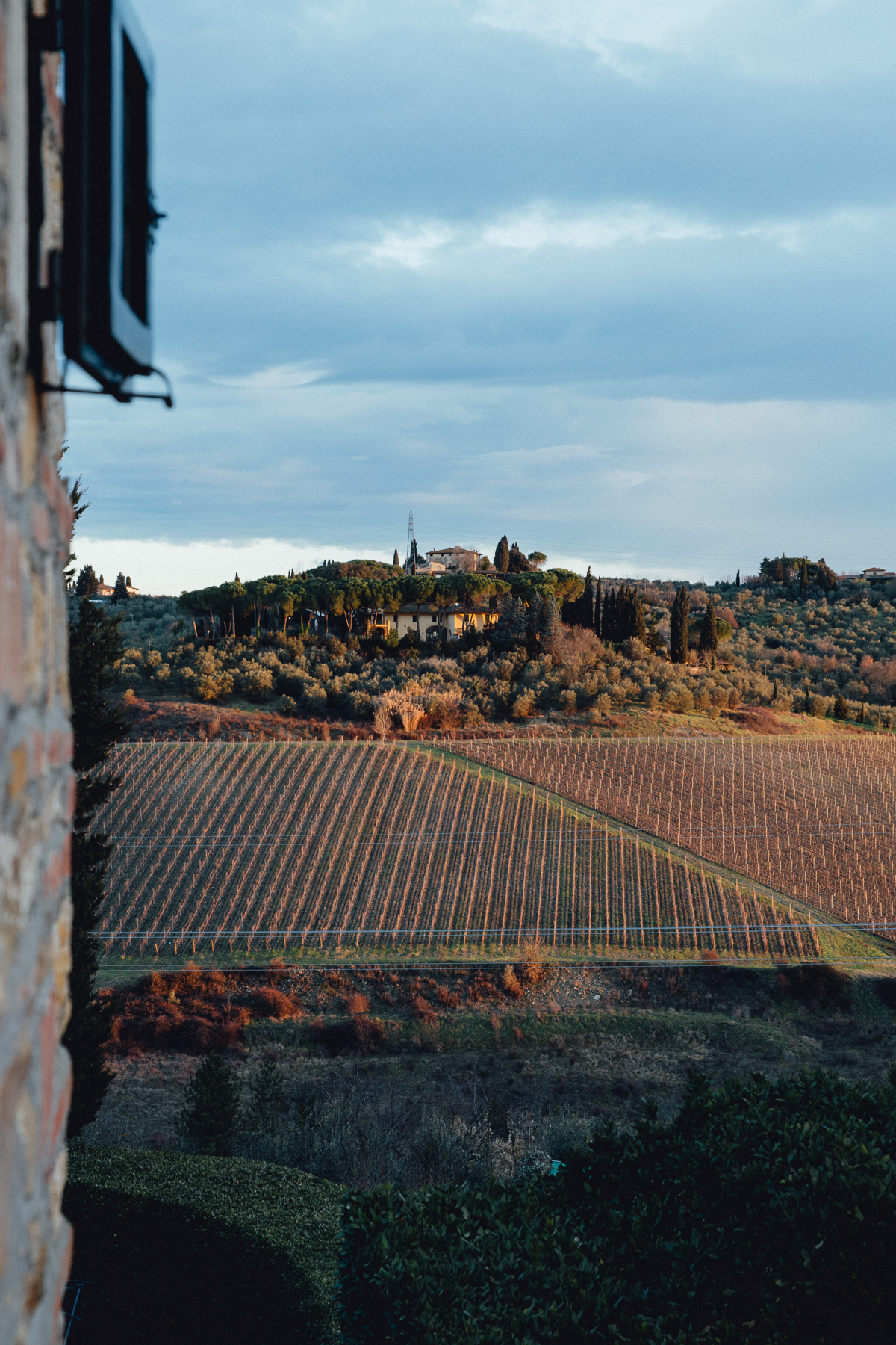 Sunrise From The Bedroom Window at La Quercia Estate, Italy, February 2017