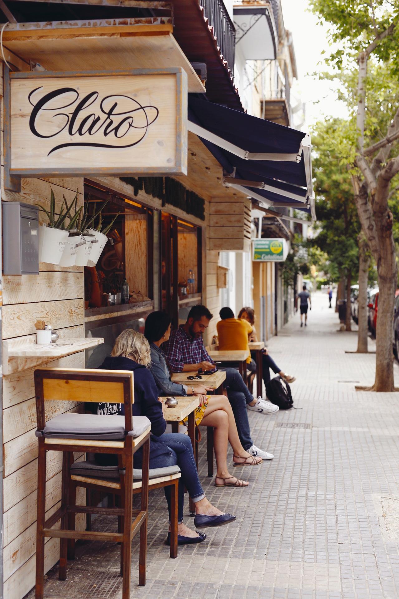 Café Claro in Palma, Mallorca, June 2018