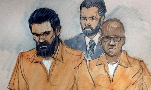 Jonas and Hasan Edmonds, cousins from Aurora, Illinois, were charged with conspiring to provide material support for Isis. Photograph: Tom Gianni/AP