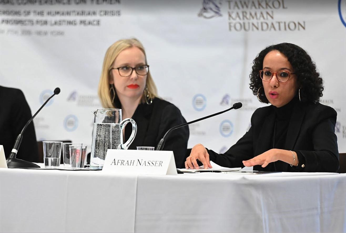 Afrah Nasser speaking.JPG