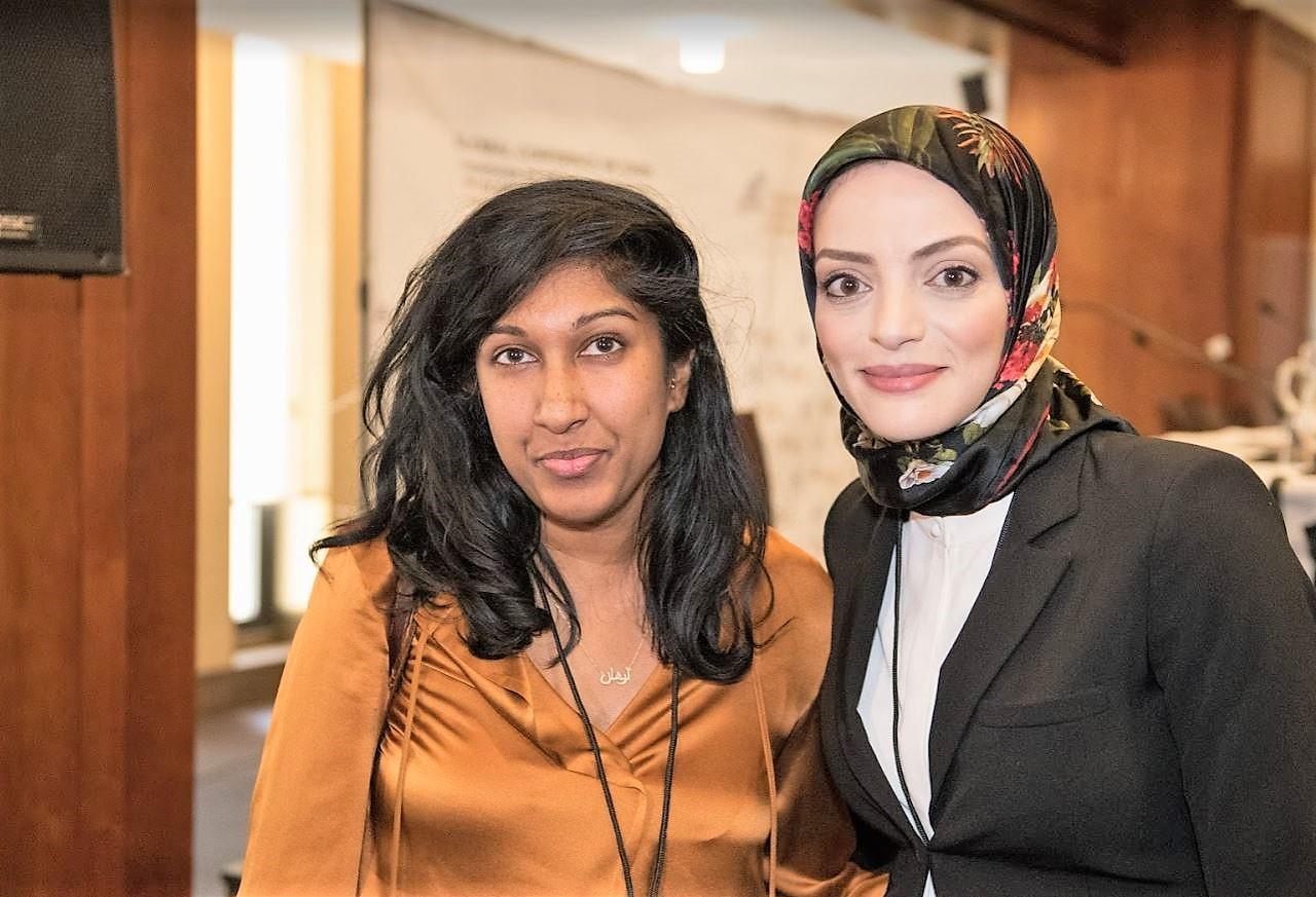 Dalia Fahmy and Priyanka Motaparthy.JPG