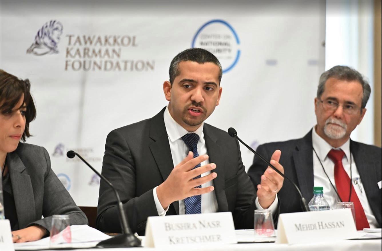 Mehdi Hassan speaking.JPG