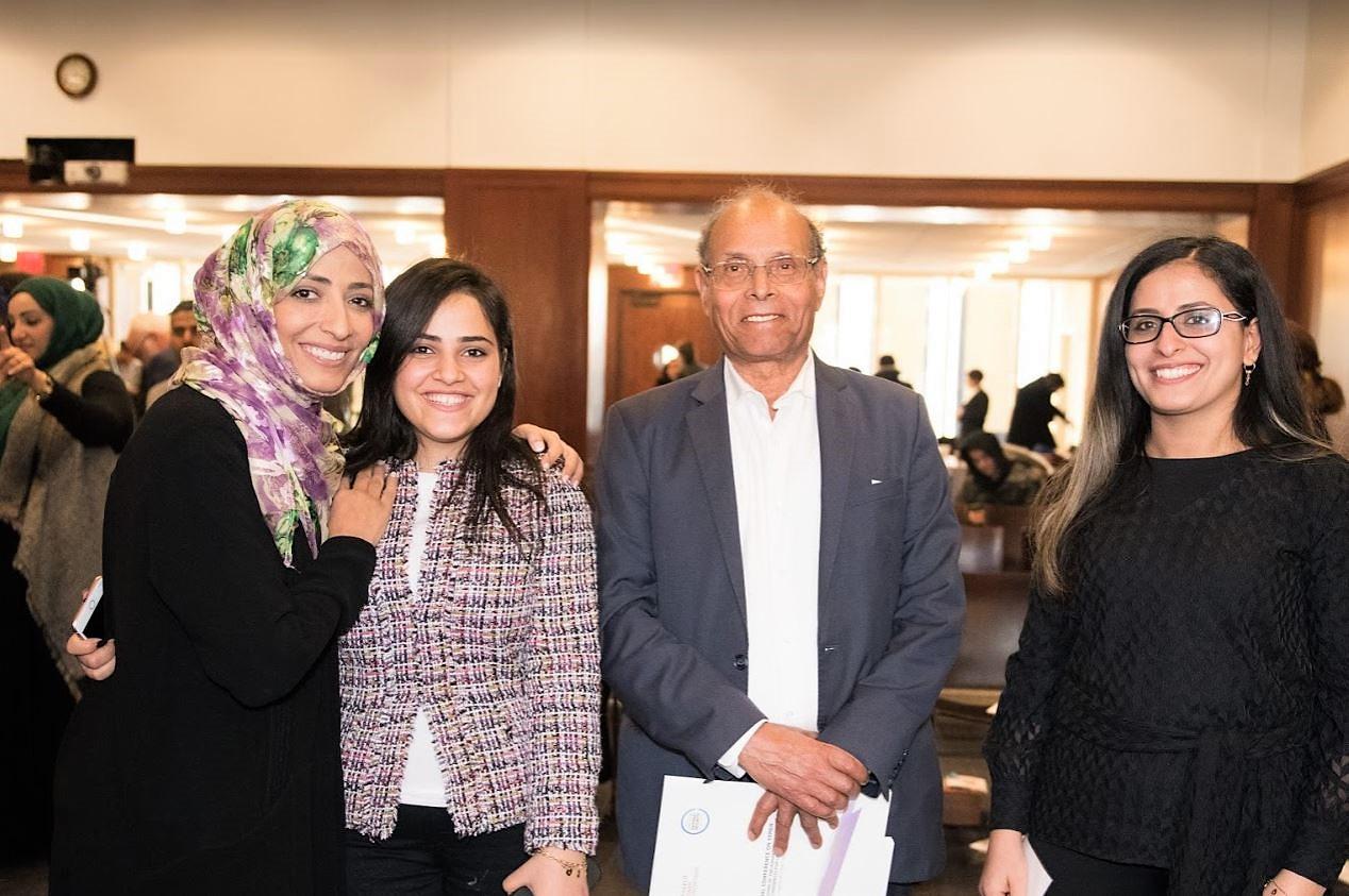 President Marzouki Tawakkol daughter.JPG