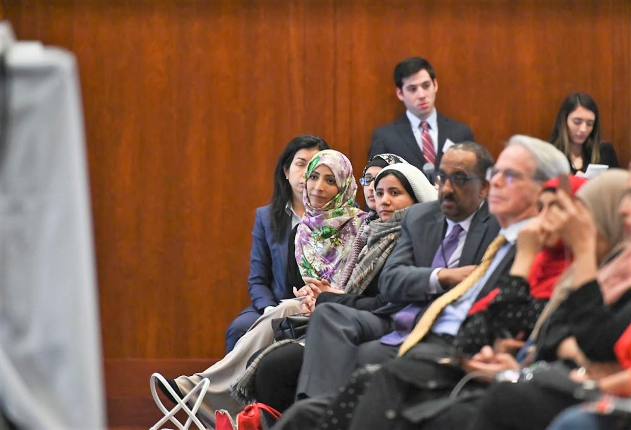 Tawakkol listening to panel 2.JPG
