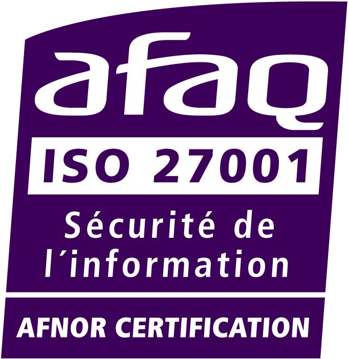 Nous sommes certifiés pour le maintien en condition opérationnelle de nos infrastructures d'hébergement physique et pour la surveillance et détection des incidents de sécurité des systèmes d'information hébergés.