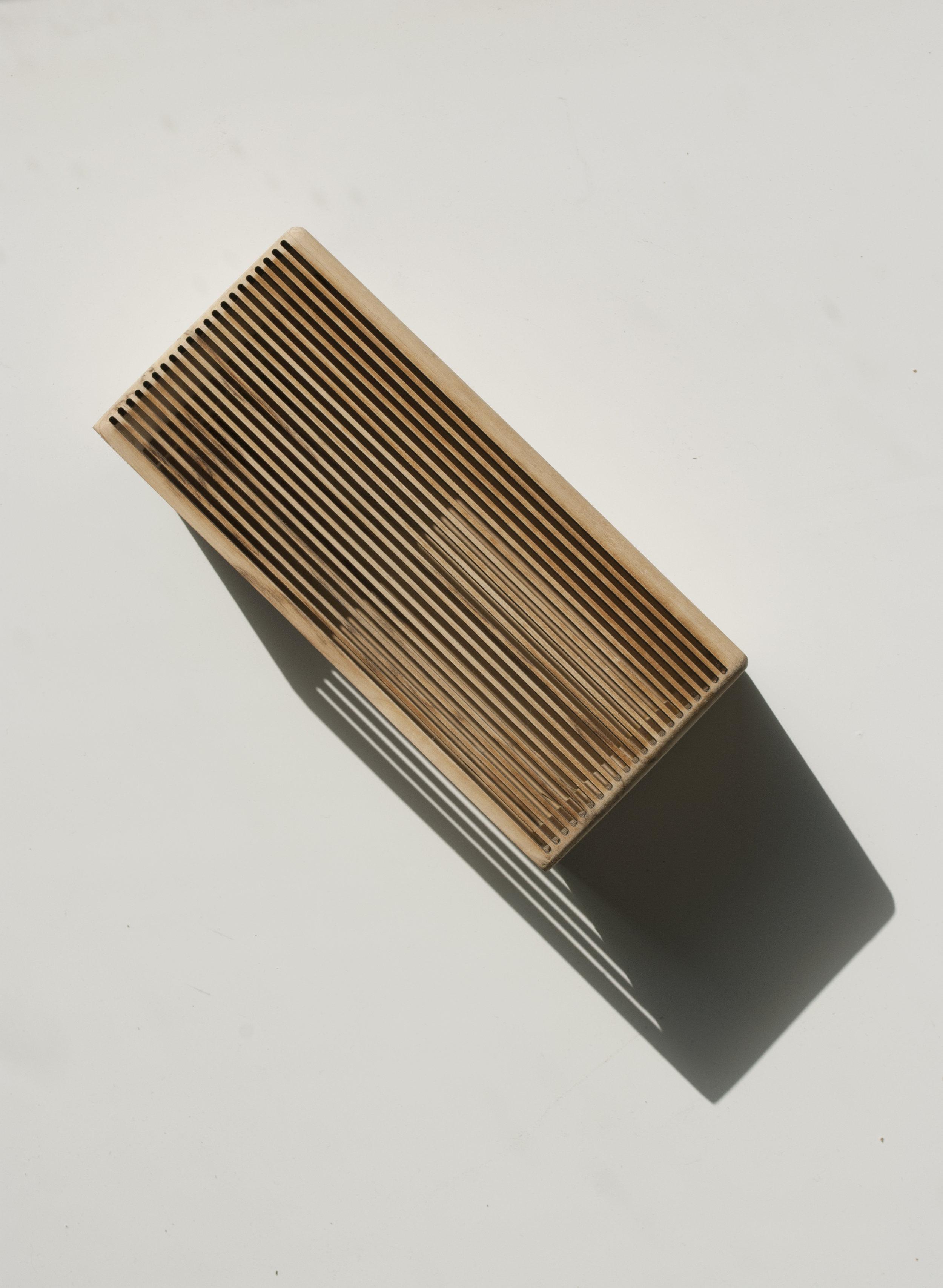 Découpe laser // Coffret en bois d'érable