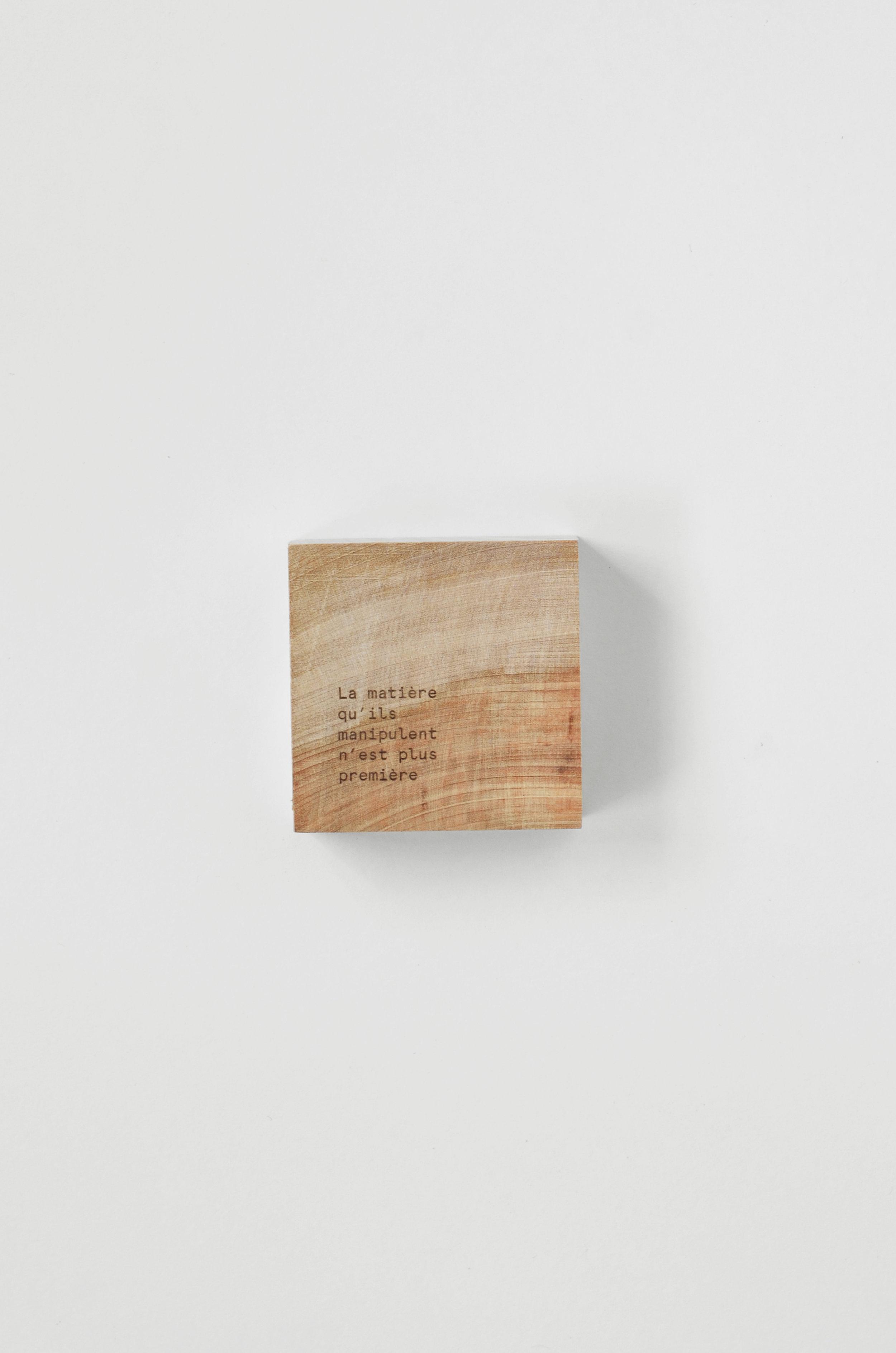 Laser engraving // Birch square