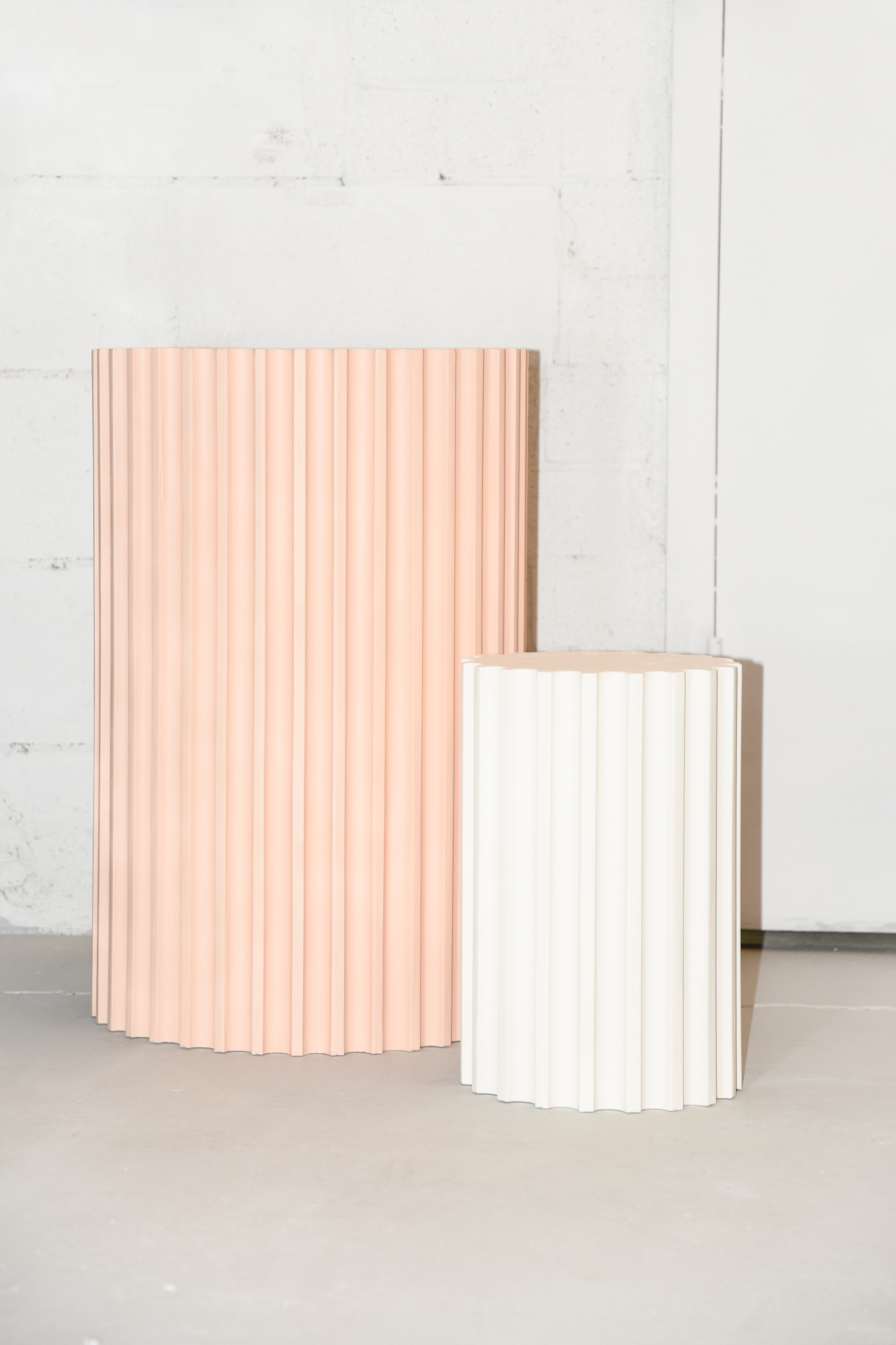 Plaster and wood // Pedestals