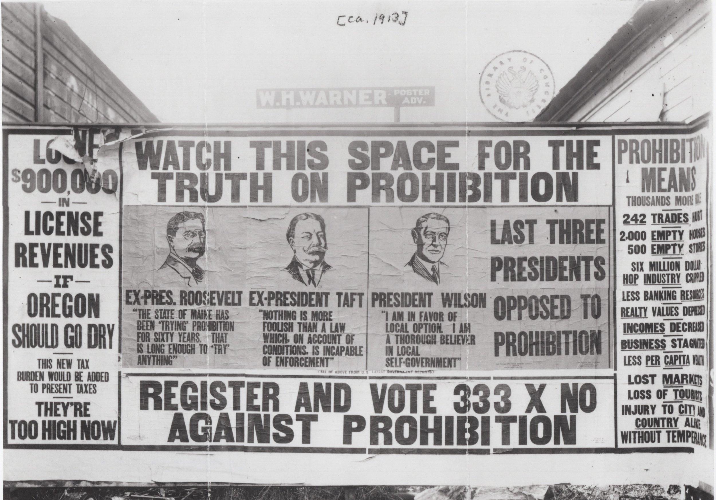 Billboard against prohibition