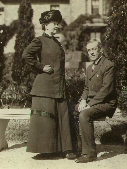 The Wilsons at Prospect House, the residence of the President of Princeton University