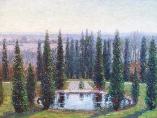The garden Ellen designed behind Prospect House and later painted. See our  blog post