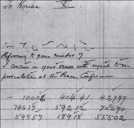 Woodrow Wilson to Colonel House