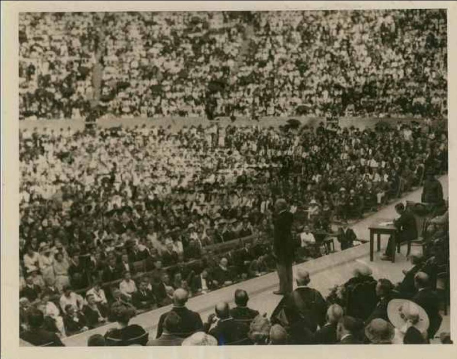 President Wilson Speaking at the Greek Theater