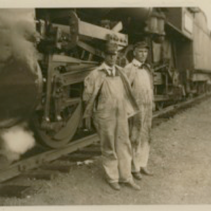 Train Workers with a Locomotive