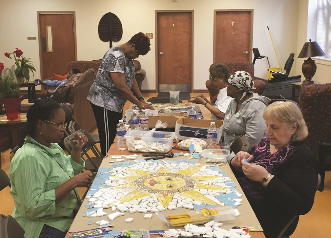 Mosaic Workshop at Archer Seniors Apartments