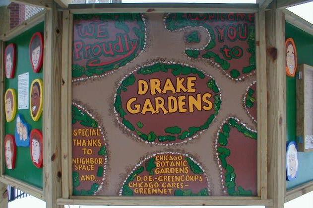 Drake Gardens Signage, 2000