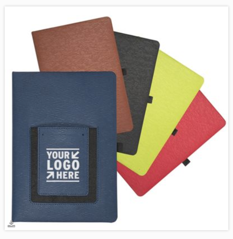 Primeline Roma Journal with Phone Pocket, #LG-9386, a variety of colors to chose from.