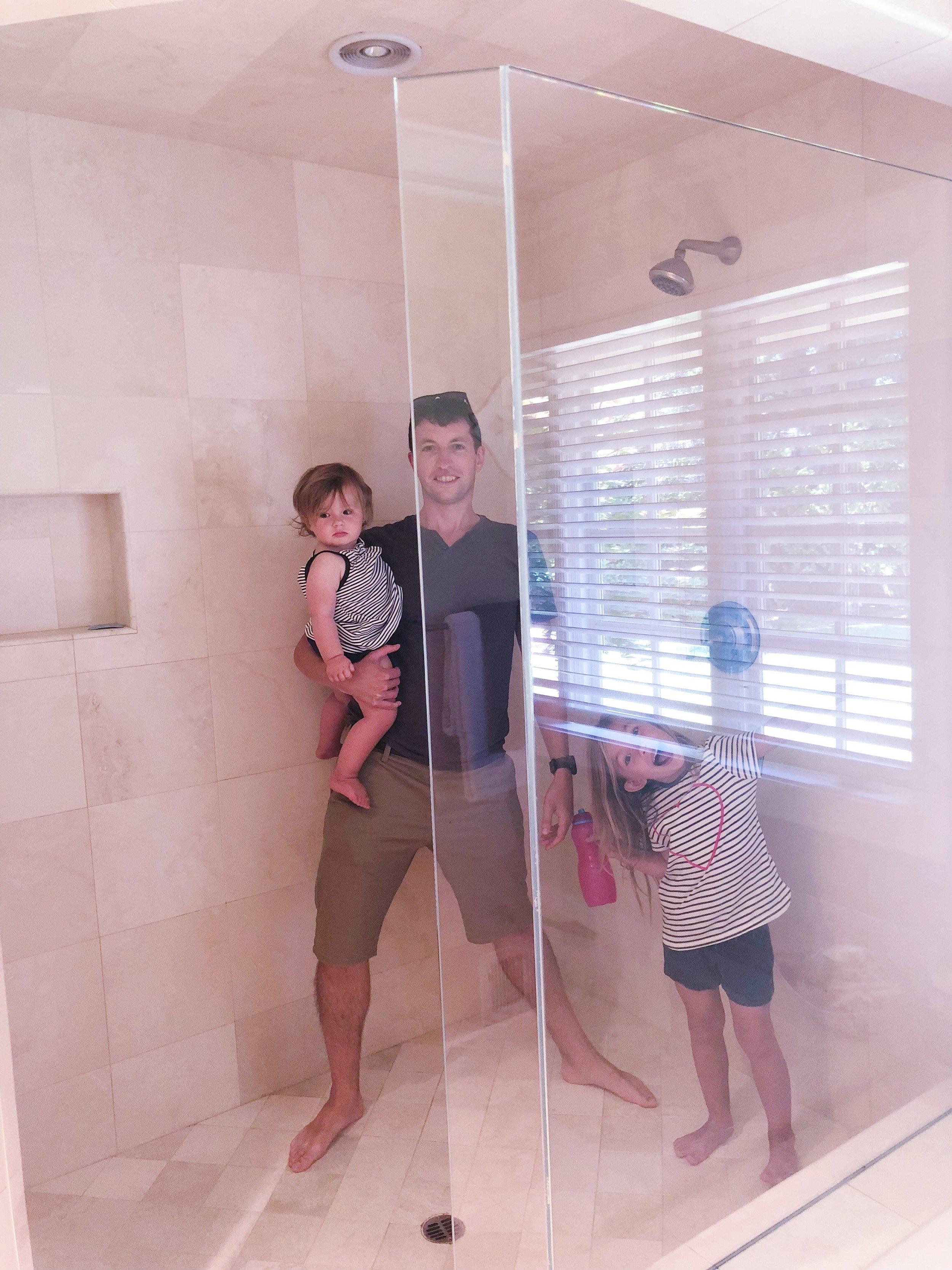 Family sized shower Los Altos