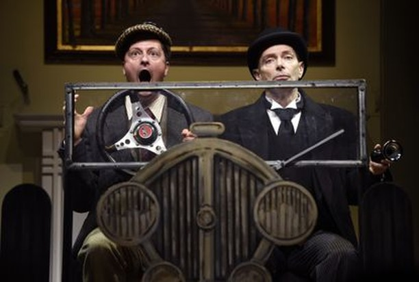 "Check out the hilarious new play based on the works of P.G. Woodhouse, Jeeves & Wooster in ""Perfect Nonsense"" now playing at @HartfordStage now through April 20. #hartford #hartfordstage #TOD #transit"