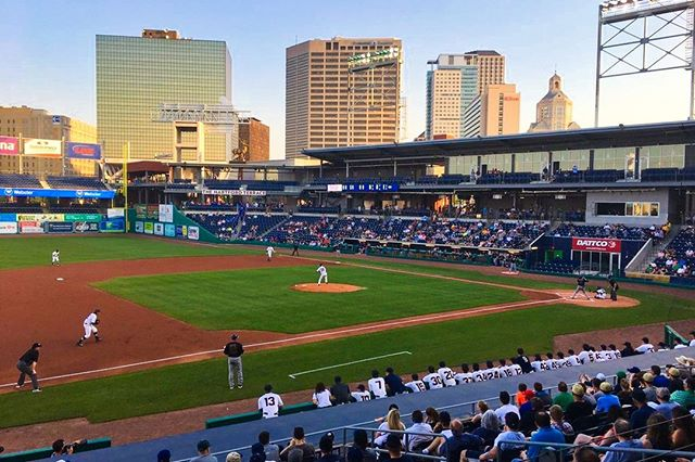 Play ball! It's opening day at Dunkin' Donuts Park as the @hartfordyardgoats play their first game of the season in Hartford against the New Hampshire Fisher Cats.  #hartford #yardgoats #nogoatsnoglory #TOD #transit #playball