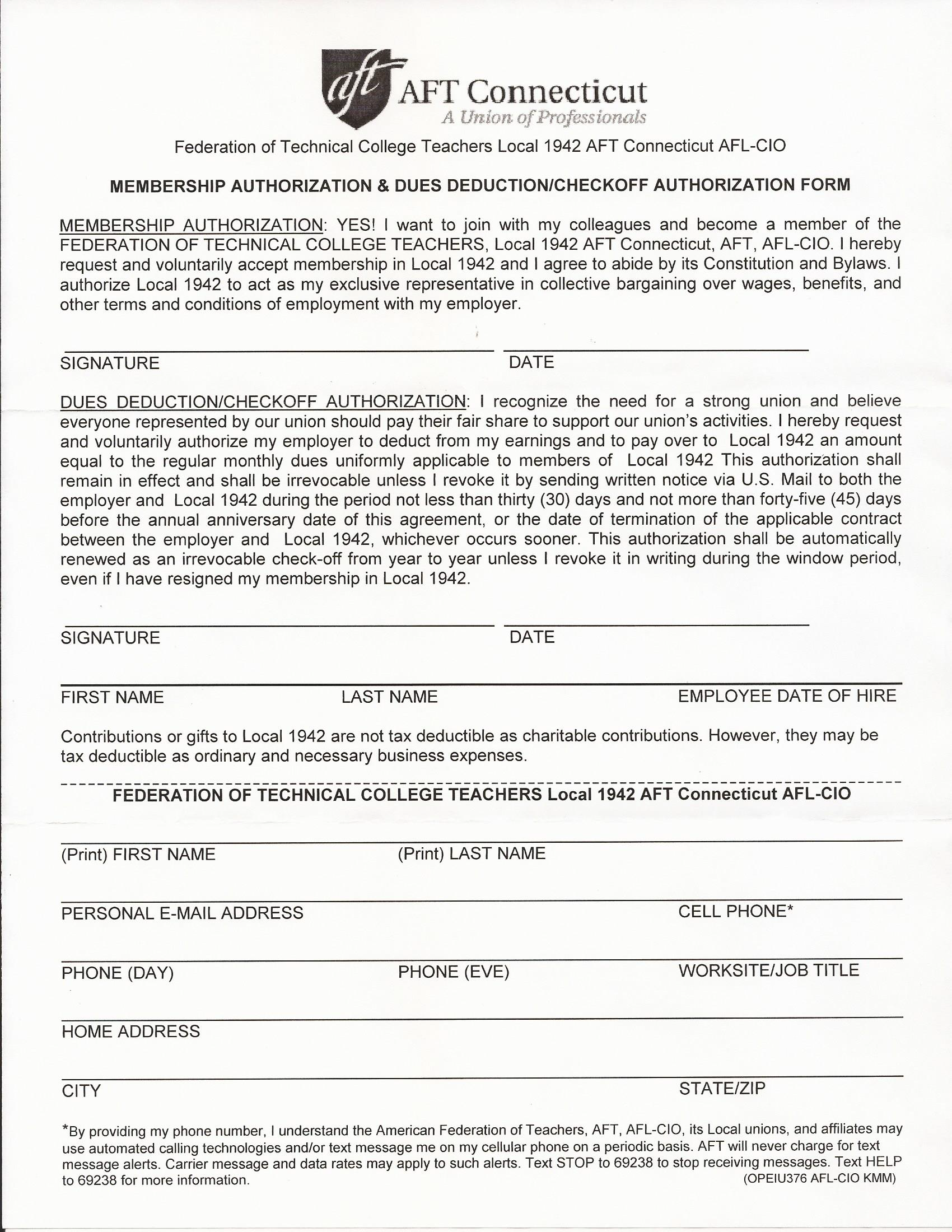 Stop! - Before you sign a letter like this one from your union, make sure that you are not signing away your rights to resign from paying dues.