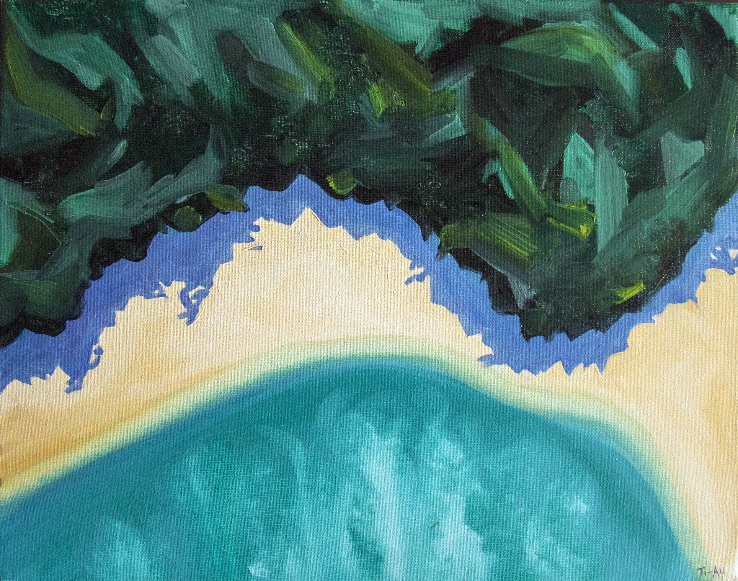 Tallebudgera From Above   14.5x18, oil on canvas  2017