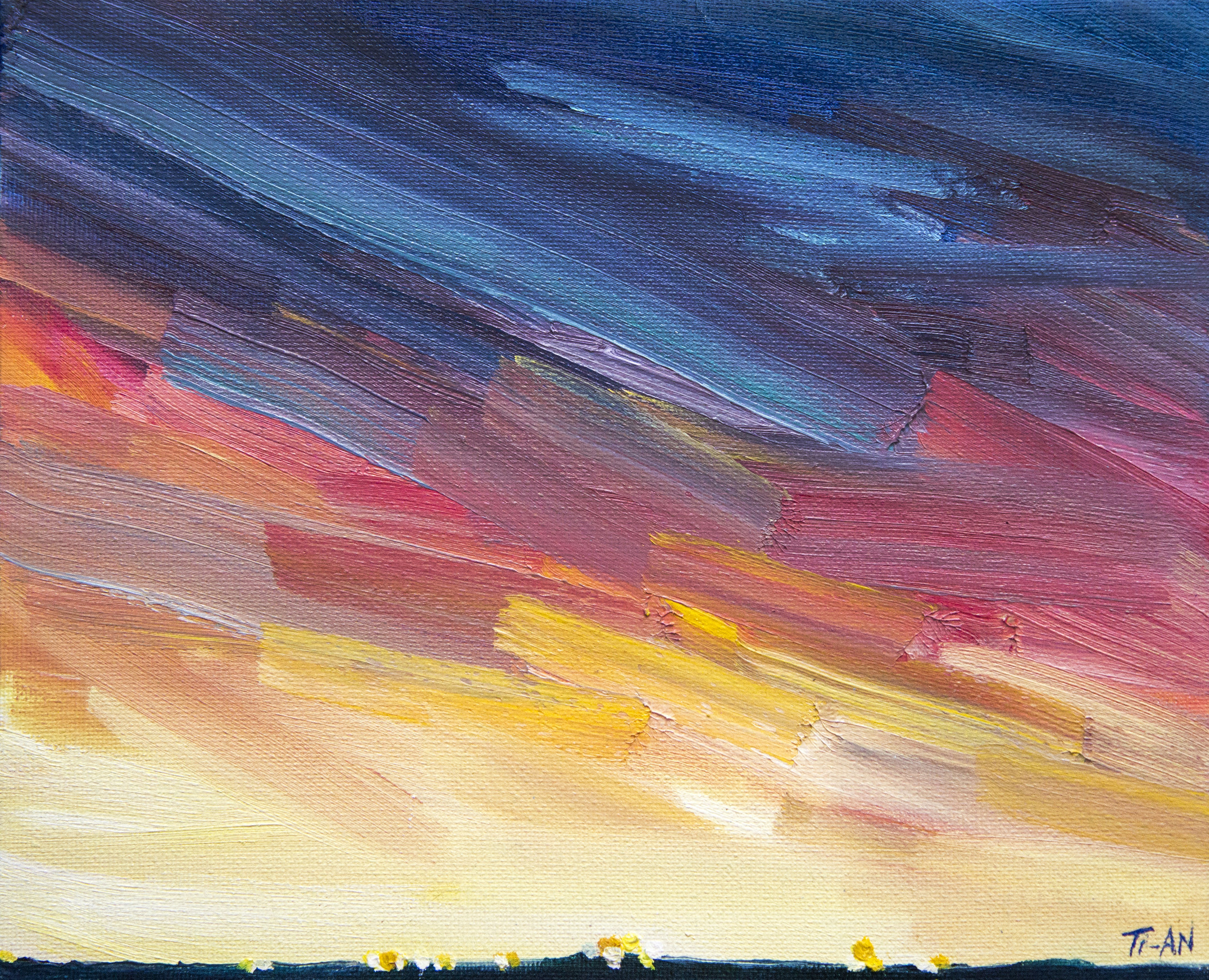 Sunset Over Downsview Airport   8x10, oil on canvas  2017