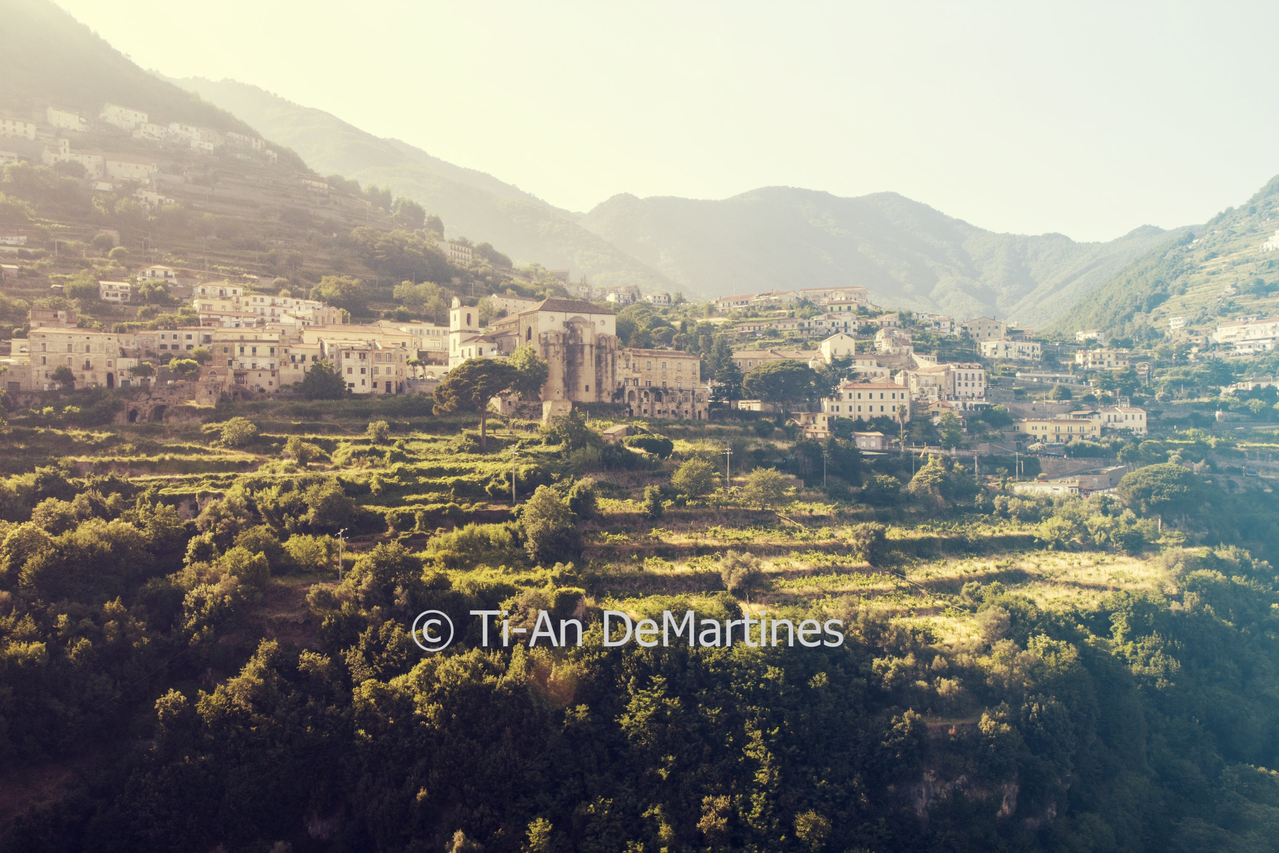Views of Scala from Ravello    Digital photograph  2017