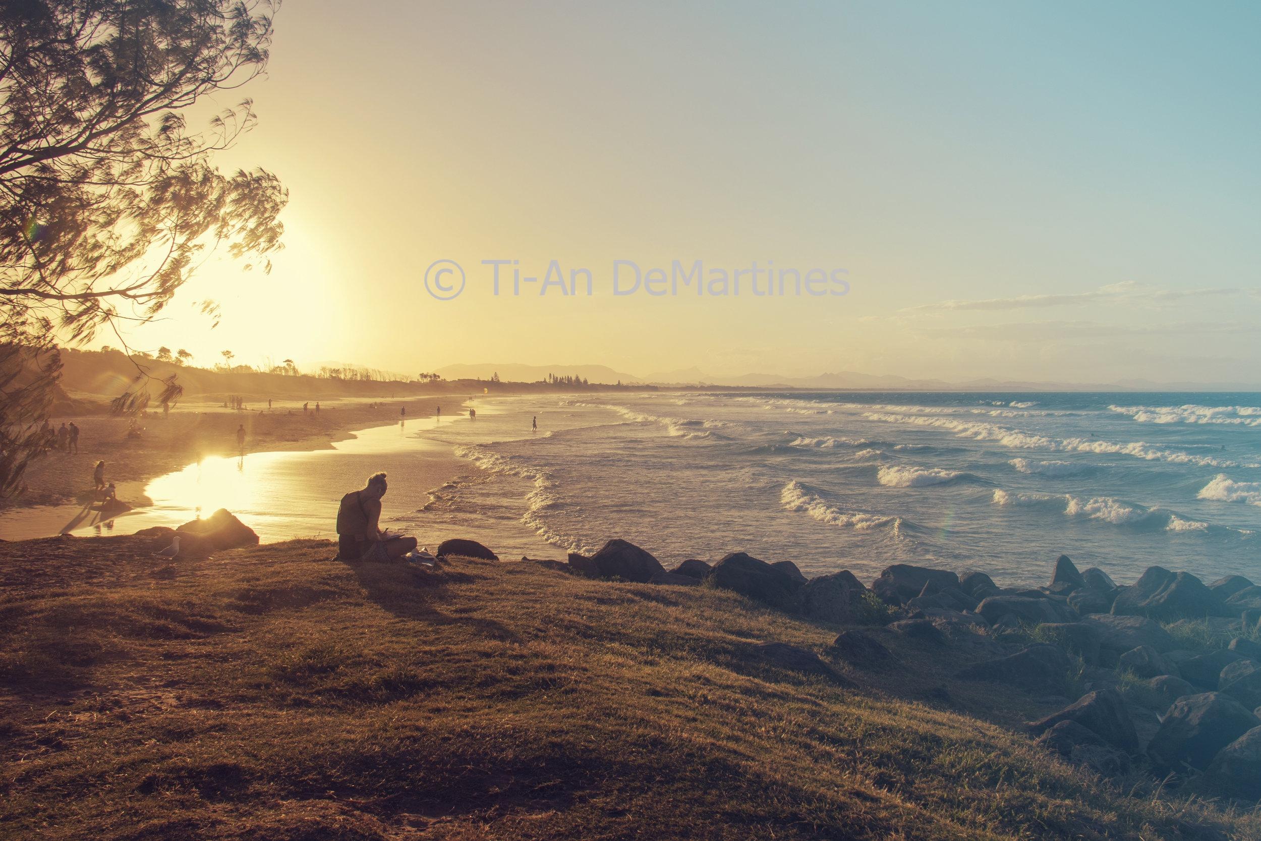 Sunset Meditations in Byron Bay II   Digital photograph  2018