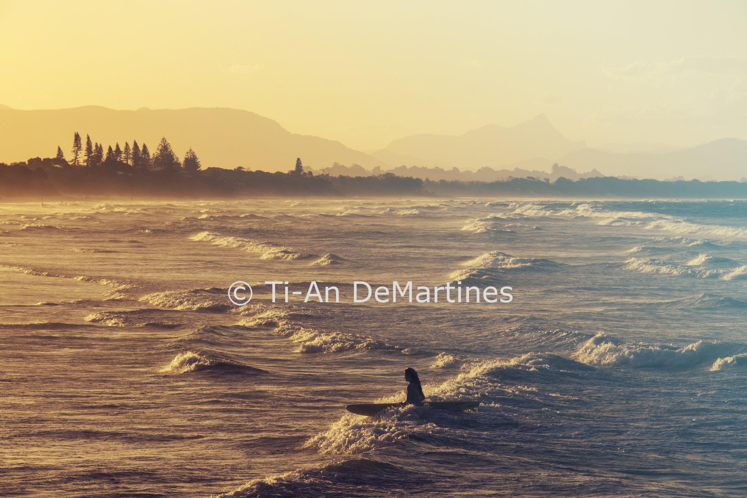 Sunset Meditations in Byron Bay III   Digital photograph  2018