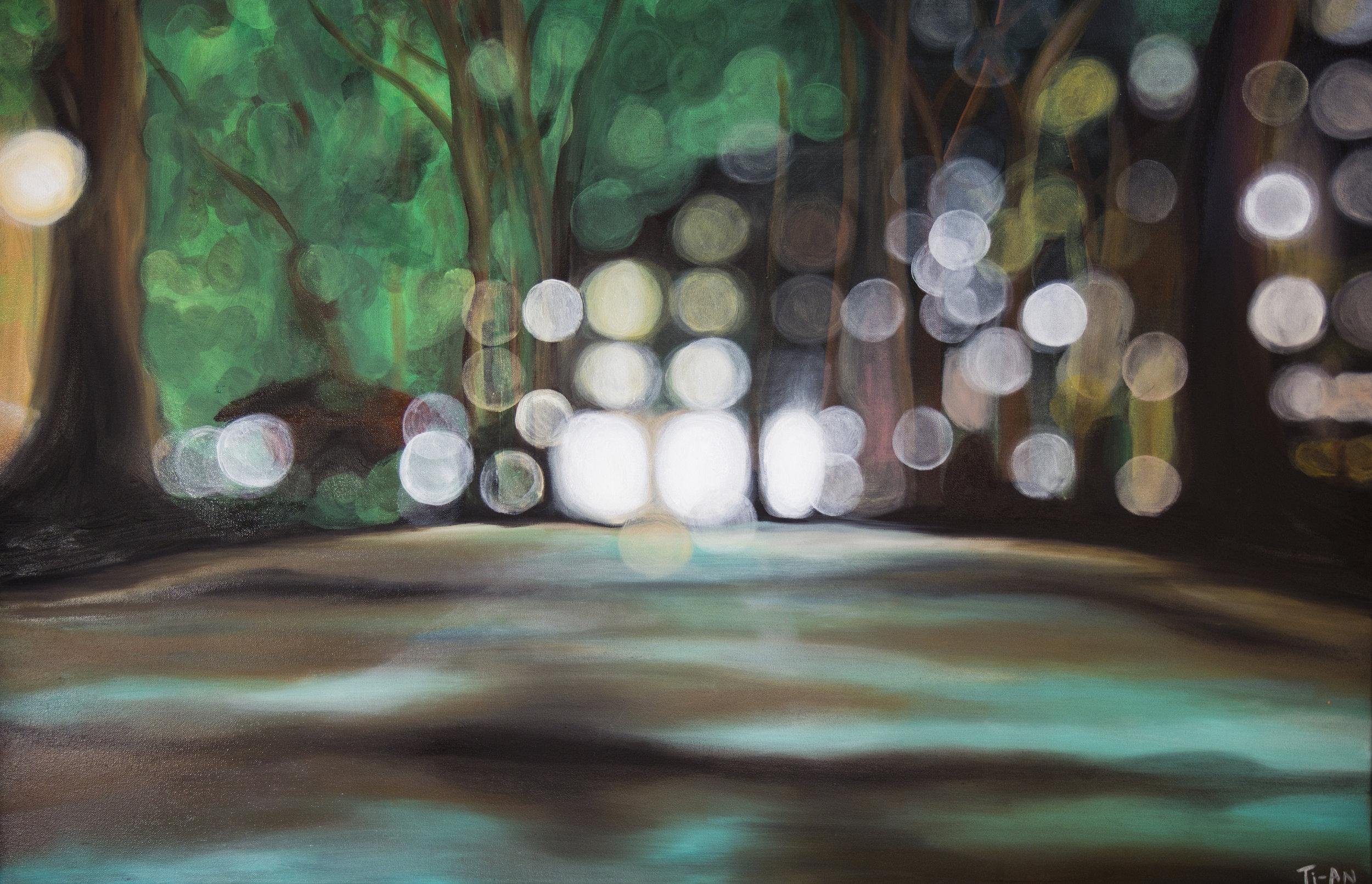 Bryant Park    24x36, oil on canvas  2012