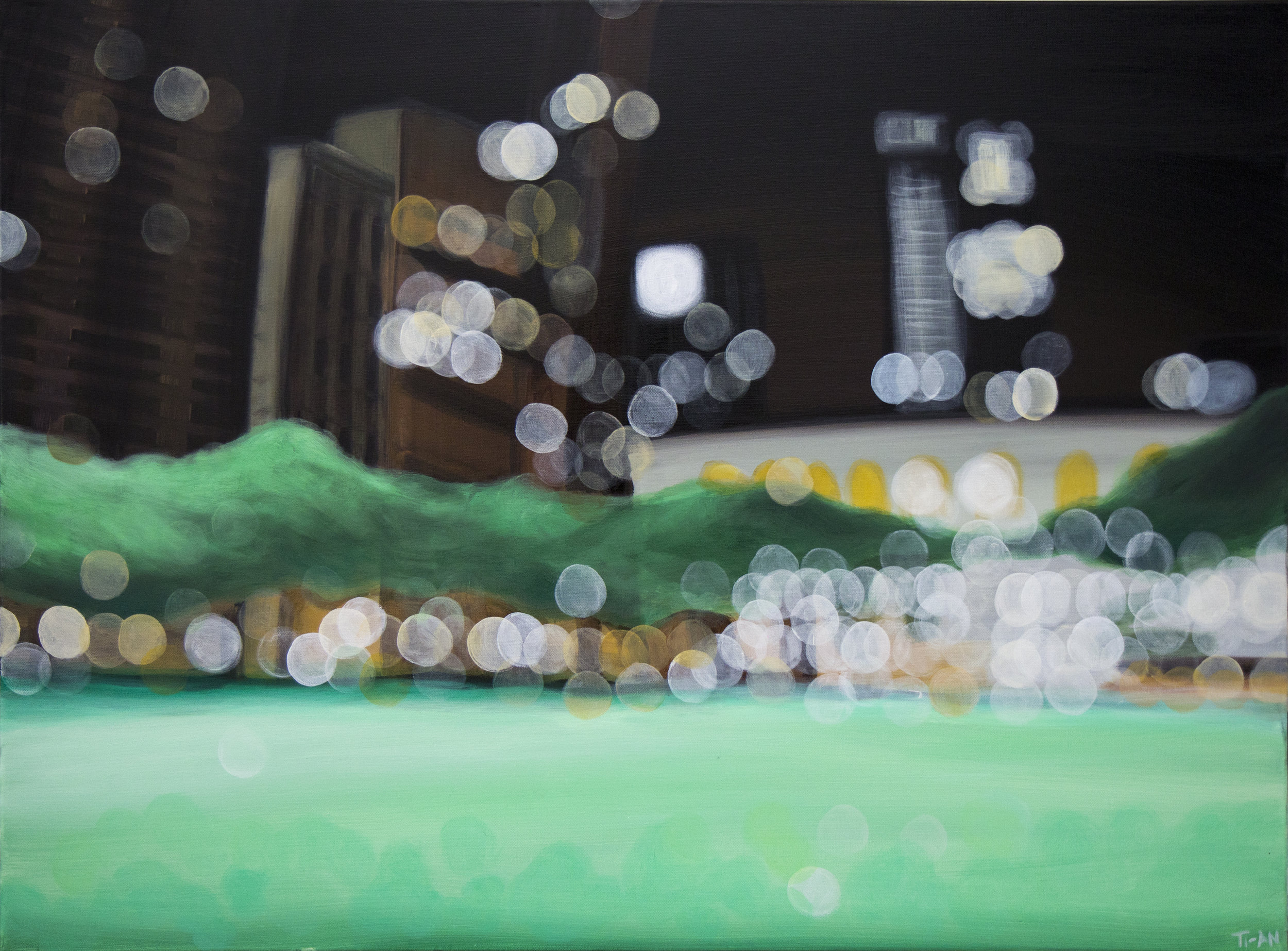 Bryant Park II   30x40, oil on canvas  2012