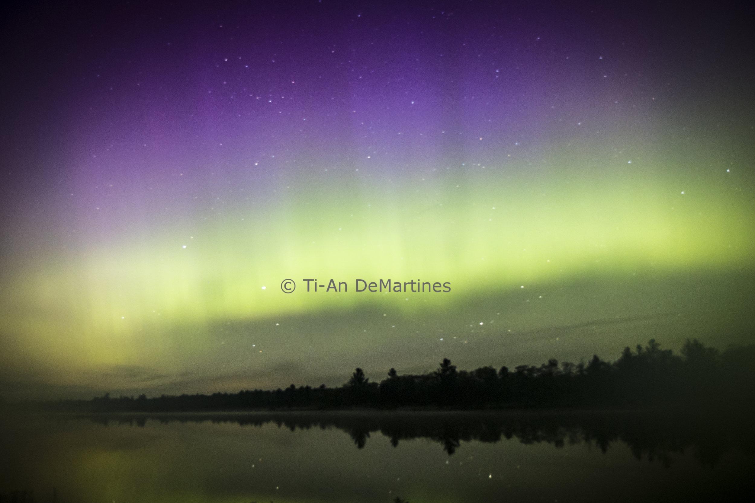 The Northern Lights over Highland Pond II   Digital photograph  2017