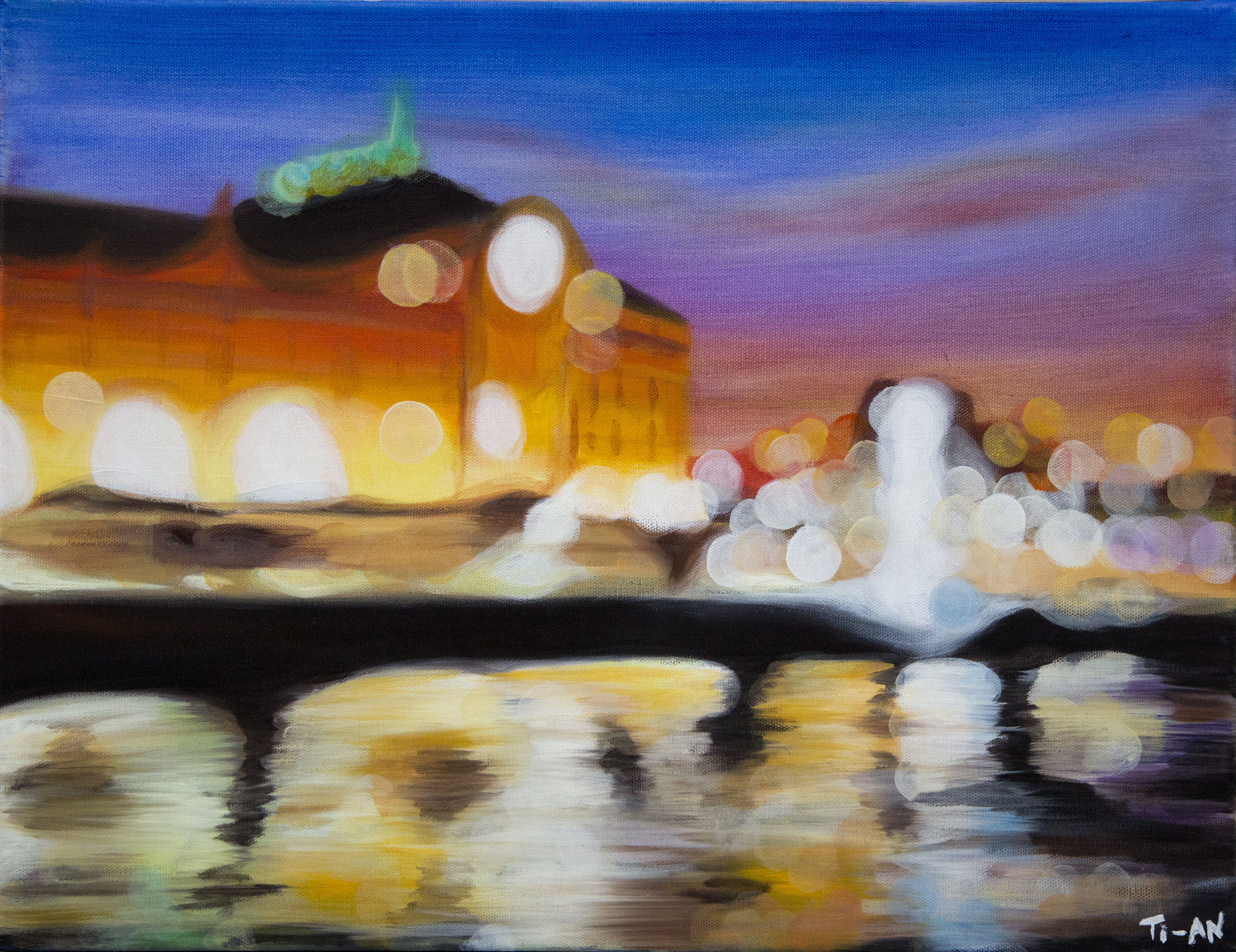 Musée d'Orsay from the Seine   16x20, oil on canvas  2012