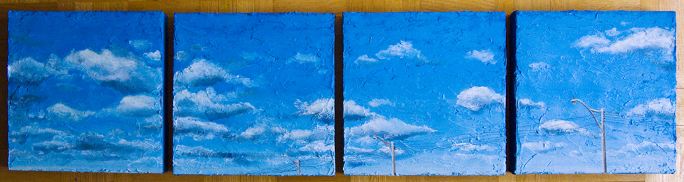 Dupont   10x10 each, oil and acrylic on canvas  2009