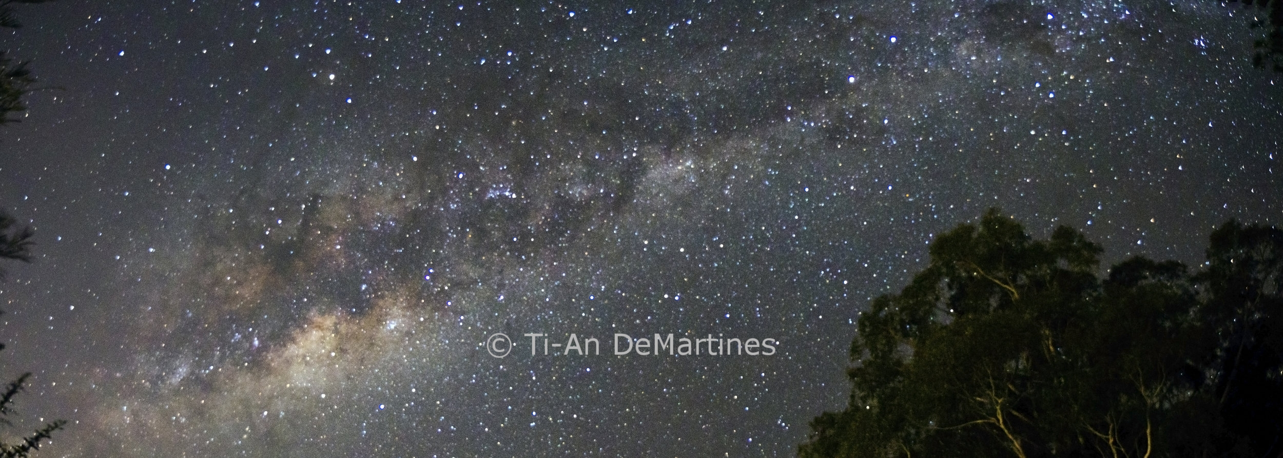 The Milky Way over Springbrook Observatory   Digital photograph  2015