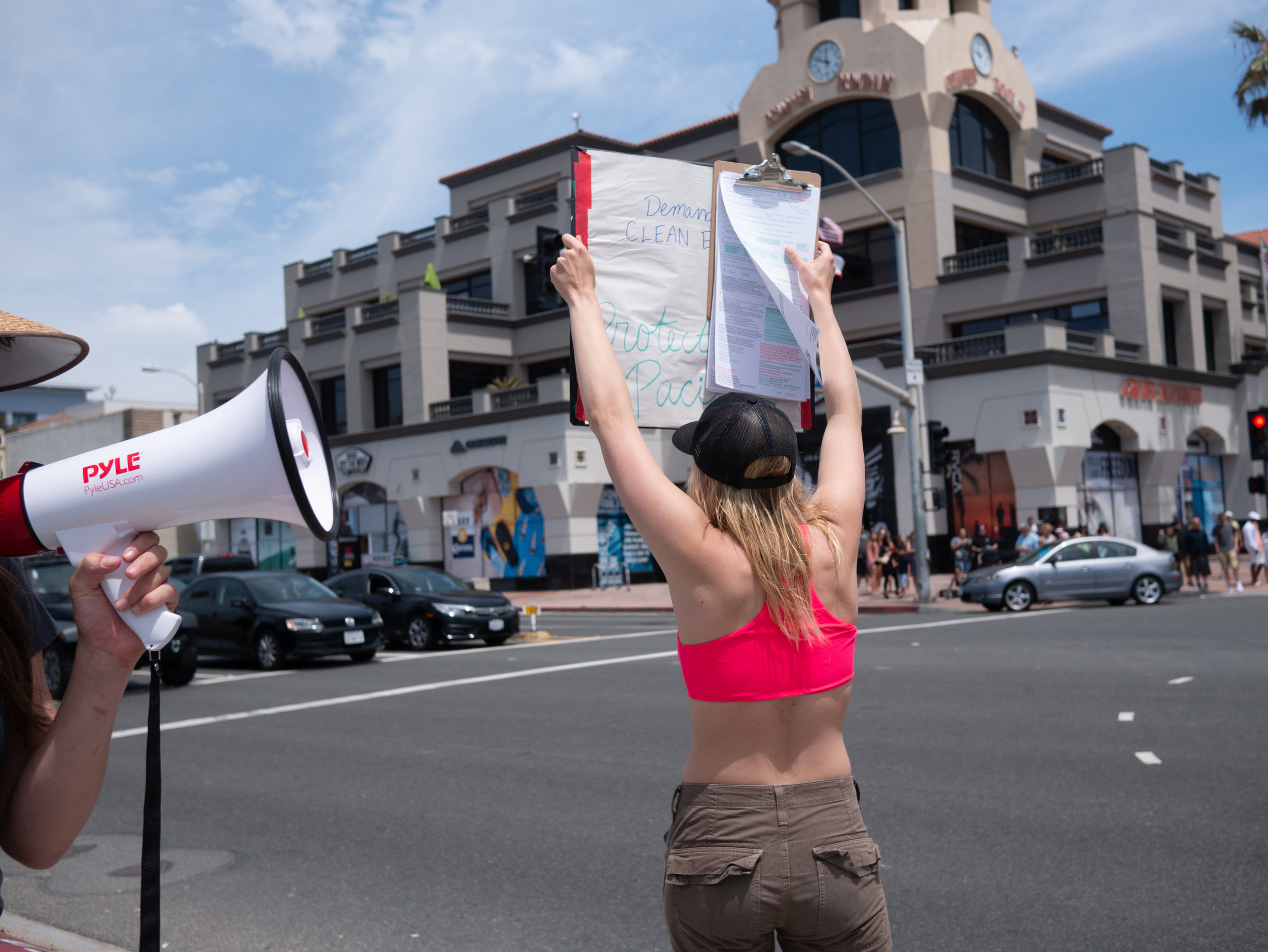 Photo from the Surf + March rally by Jordyn Romero