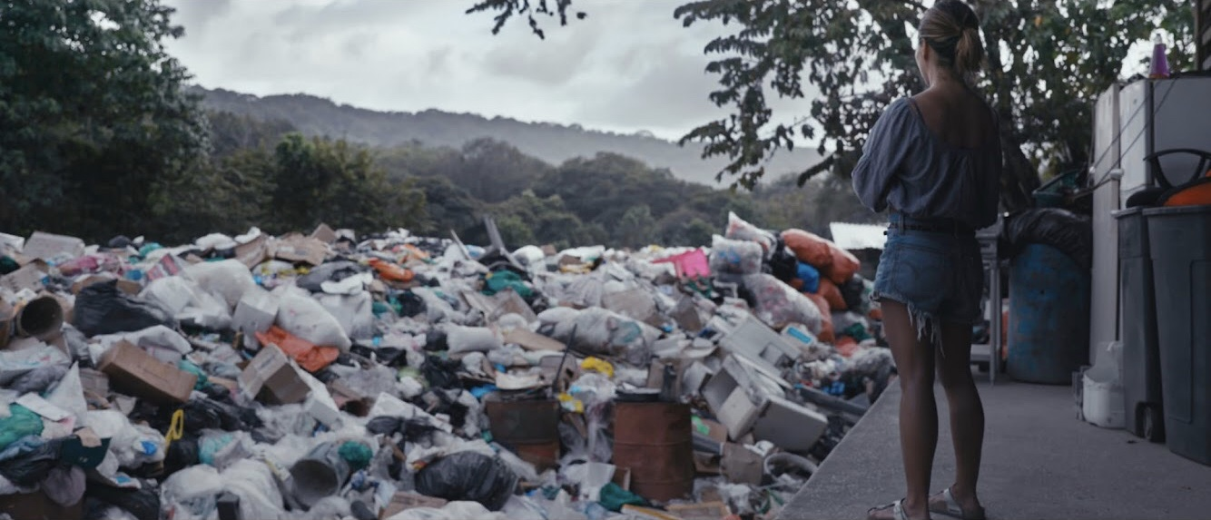 The film crew visits Nosara's dump for a striking reality check.