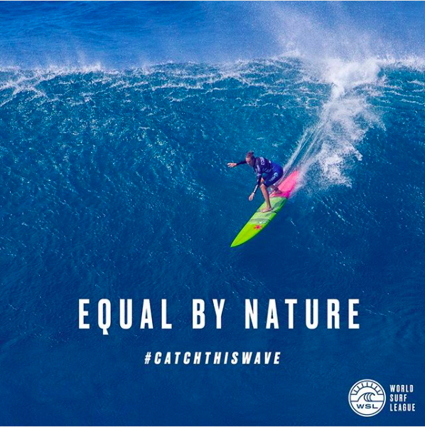 Pictured: Paige Alms, a member of CEWS, in a WSL ad.