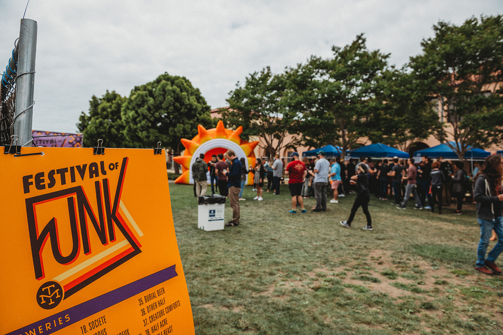 So many rad breweries came out to pour drinks for this year's Festival of Funk. Including  Society Brewing Company ,  Burial Beer ,  Other Half Brewing ,  Creature Comfort Brewing Co. ,  Half Acre Beer Co. , and over 30 more wonderful companies.