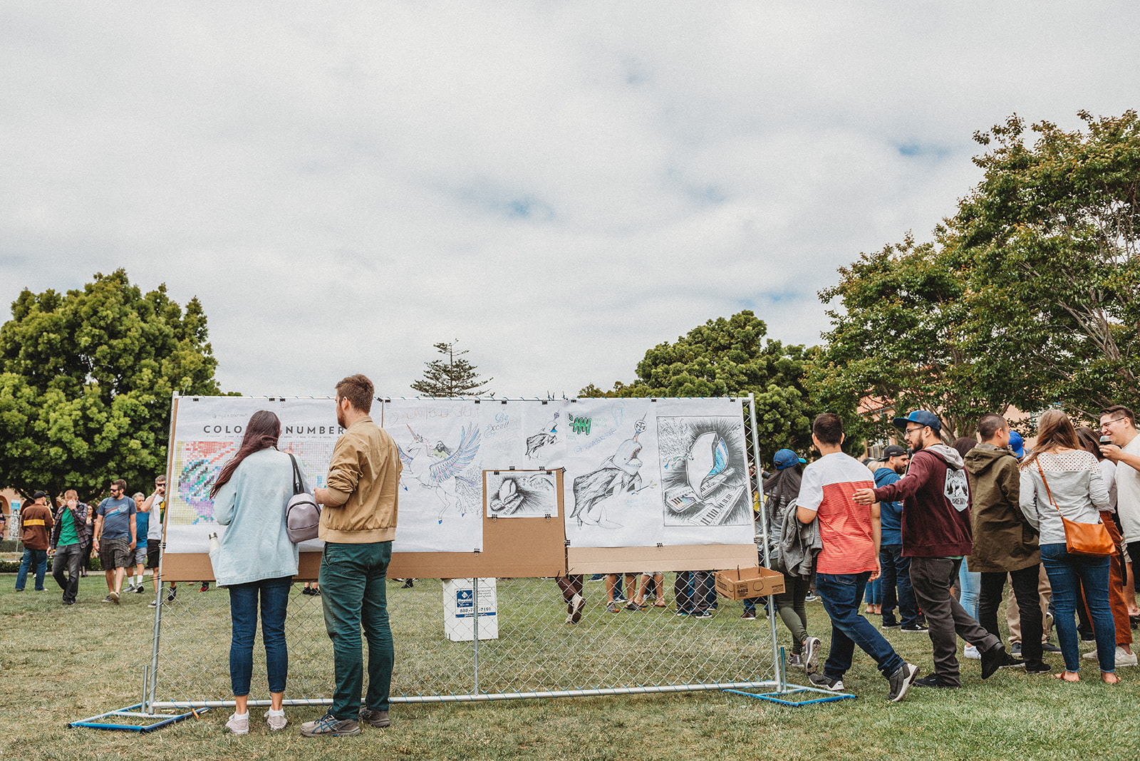 Access to a perfectly blank slate for vendors to set up tents and install interactive art pieces are just a few of the reasons why the  North Promenade  is one of our favorites!