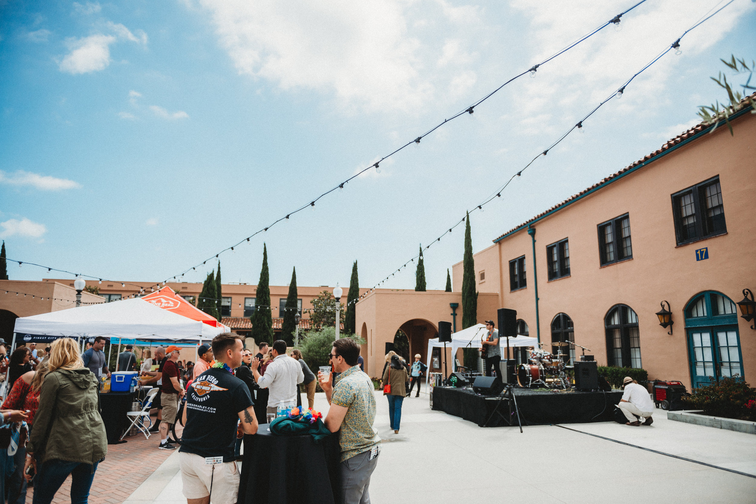 Barracks 17 offers a total blank slate to create the most perfect and specific event  ever . We love the open courtyard feel that allows space for pop-ups, stages and so much more!